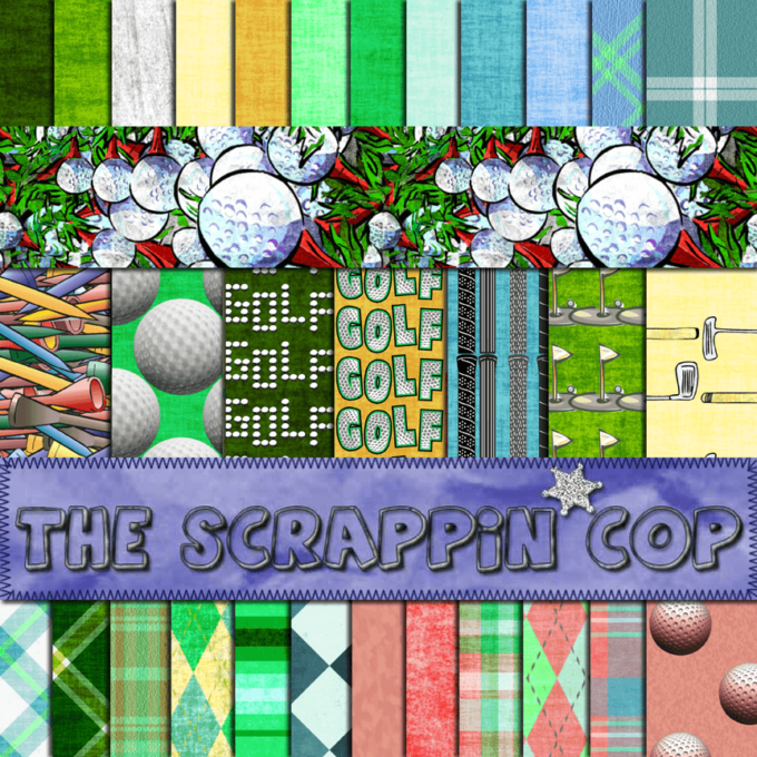 ScrappinCop Golf .PAT