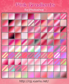 Photoshop Red Pink Gradation Free grd フォトショップ レッド ピンク グラデーション 無料 素材 Pink Gradients