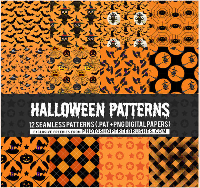 12 Free Halloween Patterns in Orange and Black