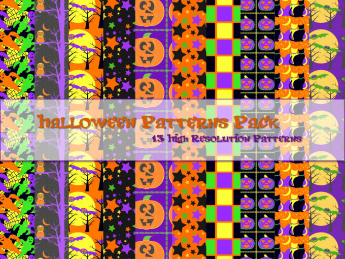 Halloween Patterns Pack