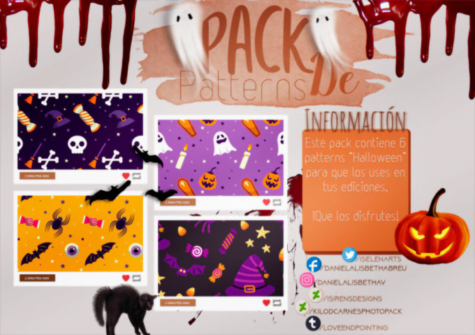 ~.Pack de Patterns #21 {Halloween}