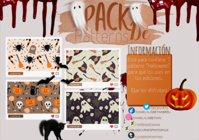 ~.Pack de Patterns #22 {Halloween}