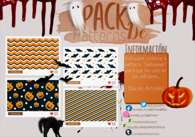 ~.Pack de Patterns #24 {Halloween}