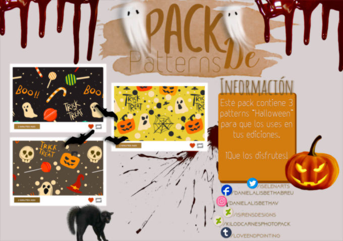 〜.Pack de Patterns#17 {Halloween}