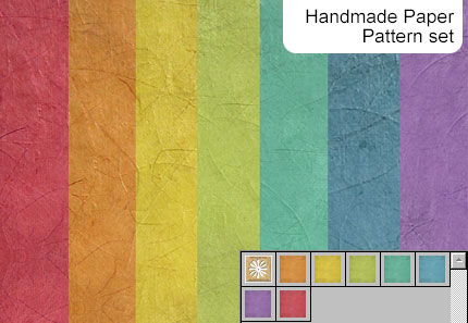 Handmade paper pattern set