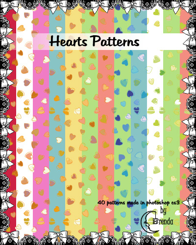 Hearts Patterns Pack II