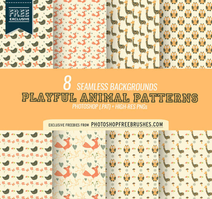 8 Cute Animal Patterns and Backgrounds