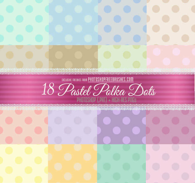 18 Pastel Polka Dots Patterns and Backgrounds