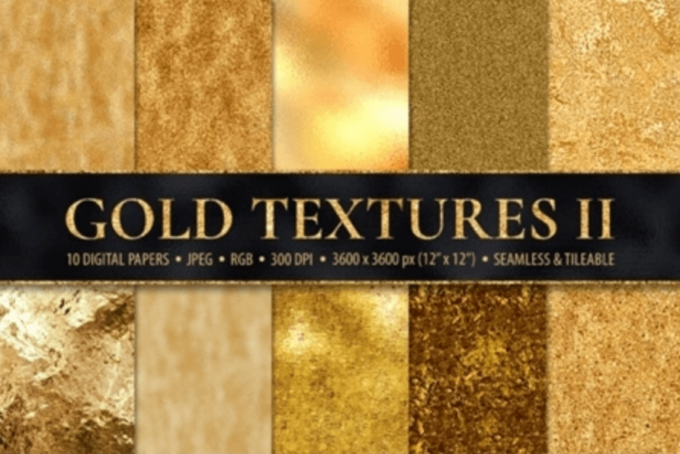 Adobe Photoshop Gold Texture Pattern Material フォトショップ ゴールド テクスチャー 無料 素材 フリー 10 Seamless Gold Foil Metallic Textures