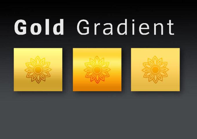 Photoshop Gradation gold gradient