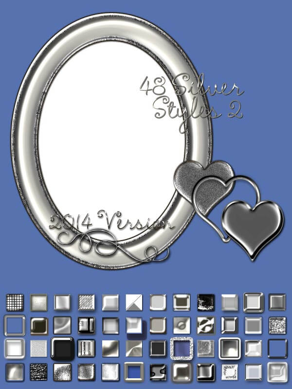 Photoshop Silver Layer Style フォトショップ シルバー レイヤースタイル Silver Layer Styles Volume 1