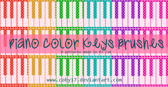 Piano color keys pattern