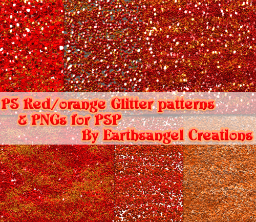 Red and Orange Glitter PS Patt