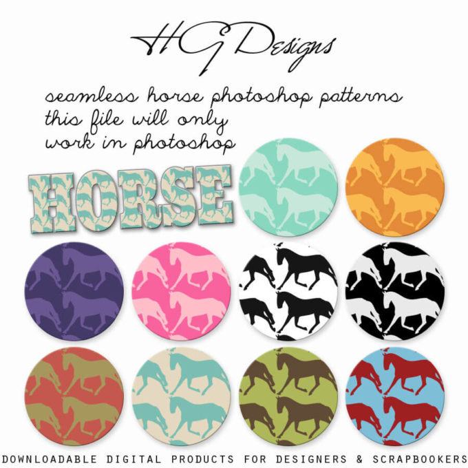 Seamless Horse Photoshop Patterns