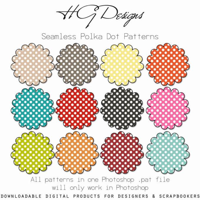 Seamless Polka Dot Patterns