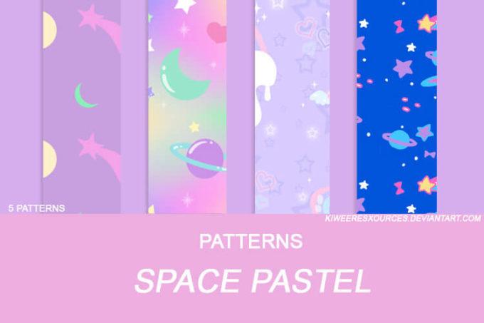 + SPACE PASTEL PATTERNS +