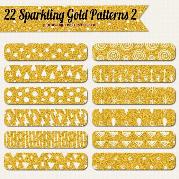 22 Sparkling Gold Patterns Vol. 2