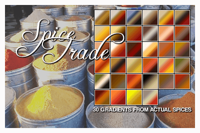 Adobe CC Photoshop Vintage Gradation Free grd フォトショップ ビンテージ グラデーション 無料 素材 Spice Trade Gradient Set