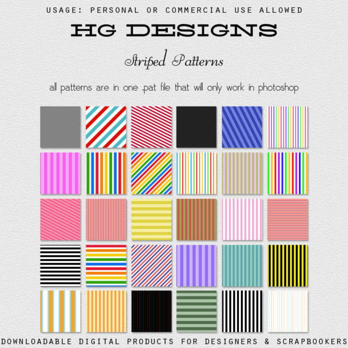 Striped Photoshop Patterns