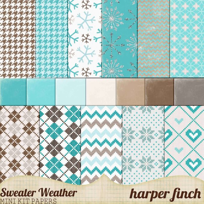 Sweater Weather Papers by Harper Finch