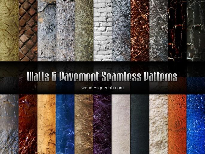 Walls and Pavement Seamless Patterns