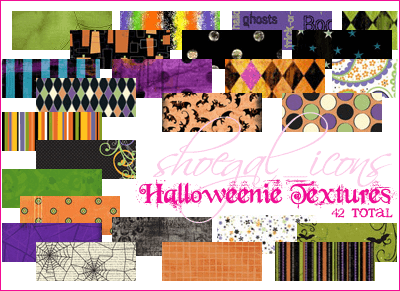 Halloween patterns ハロウィーン フォトショップ パターン テクスチャー 無料 100x100 Halloweenie Textures