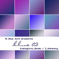 AdobeCC Photoshop Purple Gradation Free grd フォトショップ パープル グラデーション 無料 素材 18 Soft Blue Gradients