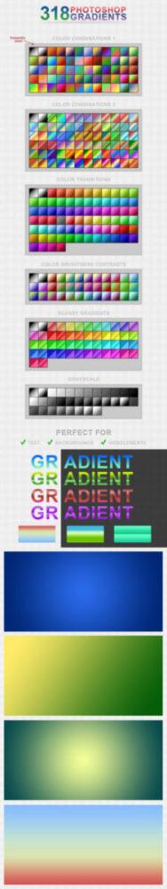 Photoshop Gradation Free grd フォトショップ グラデーション まとめ 無料 素材 318 Photoshop Gradients [free]