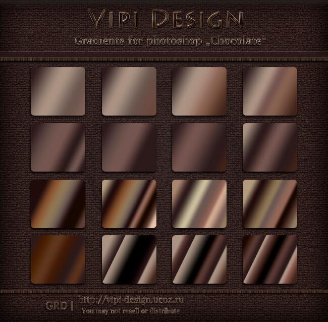 Adobe CC Photoshop Gradation Free grd フォトショップ グラデーション 無料 素材 チョコレート