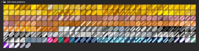 Adobe CC Photoshop Gradation Preset フォトショップ グラデーション プリセット 無料 素材 セット .grd ゴールド メタル ブロンズ