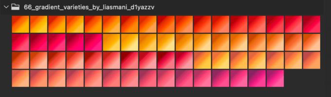 Adobe CC Photoshop Gradation Preset フォトショップ グラデーション プリセット 無料 素材 セット .grd オレンジ イエロー