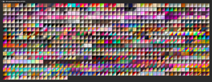 Adobe CC Photoshop Gradation Preset フォトショップ グラデーション プリセット 無料 素材 セット .grd