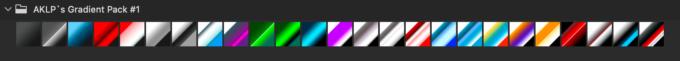 Adobe CC Photoshop Gradation Preset フォトショップ グラデーション プリセット 無料 素材 セット .grd メタリック メタル 反射