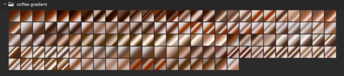 Adobe CC Photoshop Gradation Preset フォトショップ グラデーション プリセット 無料 素材 セット .grd コーヒー ブラウン セピア