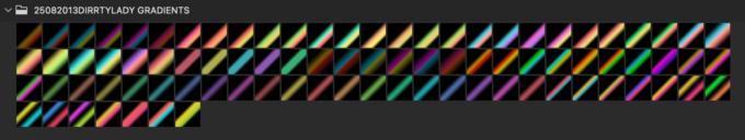 Adobe CC Photoshop Gradation Preset フォトショップ グラデーション プリセット 無料 素材 セット .grd メタリック メタル