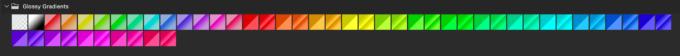 Adobe CC Photoshop Gradation Preset フォトショップ グラデーション プリセット 無料 素材 セット .grd Glossy Gradients