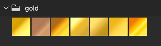 Adobe CC Photoshop Gradation Preset フォトショップ グラデーション プリセット 無料 素材 セット .grd ゴールド 金 gold