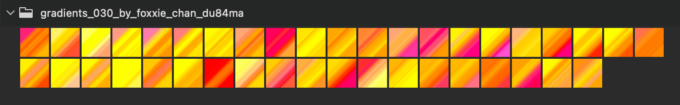 Adobe CC Photoshop Gradation Preset フォトショップ グラデーション プリセット 無料 素材 セット .grd イエロー オレンジ