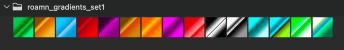 Adobe CC Photoshop Gradation Preset フォトショップ グラデーション プリセット 無料 素材 セット .grd リフレクト 反射