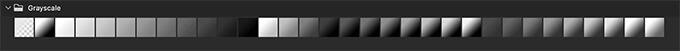 Adobe CC Photoshop Gradation Preset フォトショップ グラデーション プリセット 無料 素材 セット .grd Grayscale
