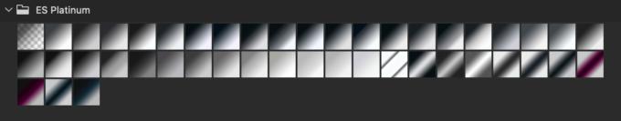 Adobe CC Photoshop Gradation Preset フォトショップ グラデーション プリセット 無料 素材 セット .grd シルバー メタリック