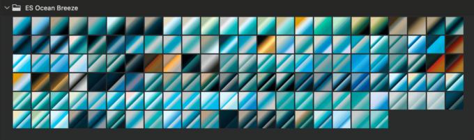 Adobe CC Photoshop Gradation Preset フォトショップ グラデーション プリセット 無料 素材 セット .grd ブルー 青