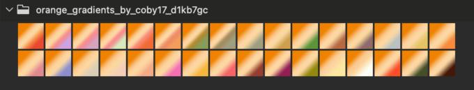 Adobe CC Photoshop Gradation Preset フォトショップ グラデーション プリセット 無料 素材 セット .grd オレンジ