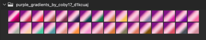 Adobe CC Photoshop Gradation Preset フォトショップ グラデーション プリセット 無料 素材 セット .grd 紫 パープル