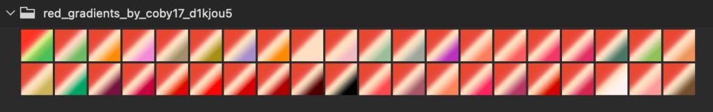 Adobe CC Photoshop Gradation Preset フォトショップ グラデーション プリセット 無料 素材 セット .grd パステル