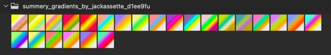 Adobe CC Photoshop Gradation Preset フォトショップ グラデーション プリセット 無料 素材 セット .grd カラフル
