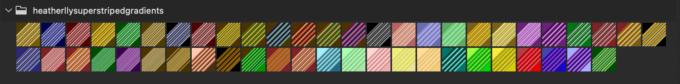 Adobe CC Photoshop Gradation Preset フォトショップ グラデーション プリセット 無料 素材 セット .grd ストライプ ボーダー