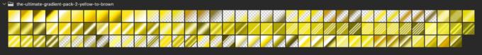 Adobe CC Photoshop Gradation Preset フォトショップ グラデーション プリセット 無料 素材 セット .grd イエロー