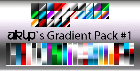 Photoshop Gradation Free grd フォトショップ グラデーション 無料 素材 AKLPs Gradient Pack 1