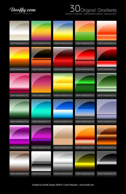 Photoshop Gradation Free grd フォトショップ グラデーション 無料 素材 Dooffy gradients set002DC